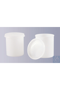 All-purpose round jar, made of HDPE, with snap cap, 100 ml, H 61 x D 53 mm All-purpose round jar,...
