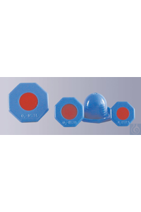 NS-plastic-stoppers, HDPE, blue, round, hexagonal for oxygen bottles, NS 19 NS-plastic-stoppers,...