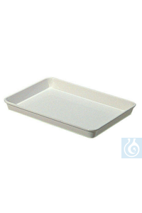 Instrument tray 270 x 190 x 30 mm white polystyrene, suitable for food