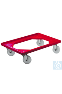 Trolley for Euronorm crates, grated bottom. Material: ABS  Trolley for Euronorm crates, grated...