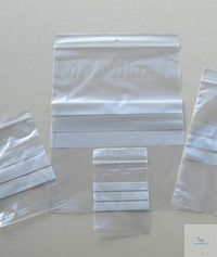 Transparent plastic self seal bag, 120 x 180 mm + 3 write on panels Transparent plastic self seal...