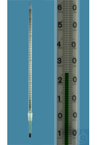 Thermometer with standard ground joint NS 14,5/23, similar DIN, enclosed scale, -10+360:1°C,...