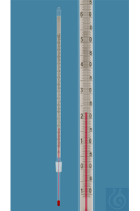 Thermometer with standard ground joint NS 14,5/23, similar DIN, enclosed scale, -10+150:0,5°C,...