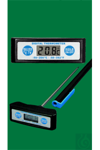 Electronic digital thermometer, Maxi-T, -50...+200:0,1°C, switchable °F,...