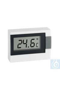 Electronic indoor/outdoor thermometer, -50...+70:0,1°C, PVC cable for out-door-measurements c. 3m