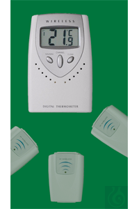 Multi-channel thermometer, -20...+60:0,1°C, switchable °F,...