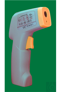 Infrared thermometer, type temp-hit, -40...+500:0,1°C/1°C, switchable to °F, with laser-bearing,...