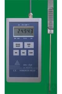 Electronic digital thermometer, Precisa ad 3000 th, -20...+150:0,001°C,...