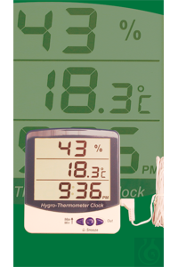 Electronic Jumbo Display indoor/outdoor Hygro-Thermometer with clock, daily...
