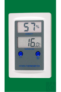 Electronic Hygro-Thermometer, 0...+50:0,1°C, switchable °F, 20...99:1%rh,...