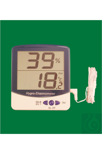 Electronic Jumbo Display indoor/outdoor Thermo-Hygrometer, -50...+70°C,...