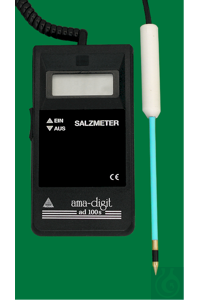 Electronic Saltmeter ad 100 s, 0...50NaCl=0-5%, resolution 1%NaCl, indication...