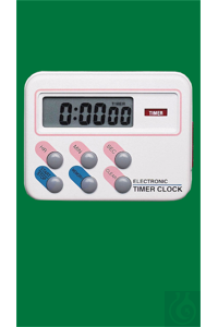 Timer Electronic Timer Clock, with loud alarm signal, timer up to 24 h, with clock and...