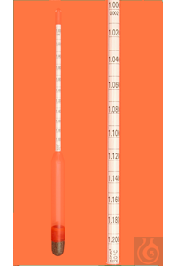 7Artikelen als: Density hydrometer, 0,600-0,800:0,002g/cm³, 280mm long, reference temperature...