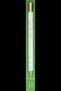 Meteorologische Extremthermometer, Minimum-Form mit blauer Schleppmarke und Gabelgefäß, DIN...