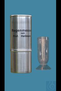 Regenmesser nach Professor Hellmann, aus rostfreiem Edelstahl, Auffangfläche 100cm², 300x115mm,...
