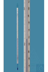 Precision thermometer, low temperature, similar DIN, enclosed scale, -38+50:0,2°C, capillary tube...