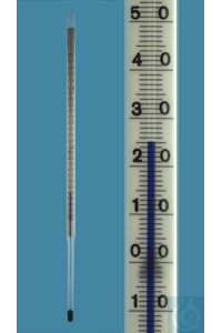 Precision thermometer with straight stem, simil...