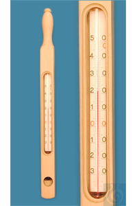 3Articles like: Cylinder thermometer in wooden frame, enclosed scale, 0+50:1°C, capillary...