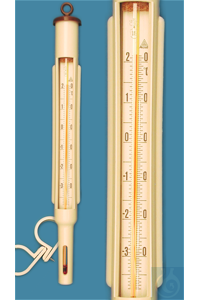 AMA Freezer thermometer, in plastic frame, enclosed scale, -35+20:0,5°C, capillary prismatic...