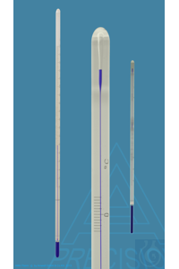Thermometer similar to ASTM 29F, solid stem, 127,5+132,5:0,1°F, white backed, capillary tube...