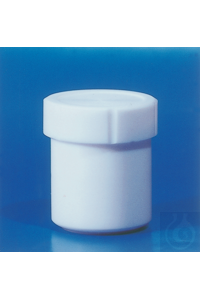 PTFE jar, diameter x cap size, 125 x 90 mm, 480 ml PTFE jar, diameter x cap size, 125 x 90 mm,...