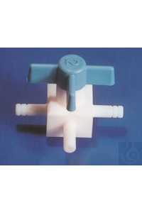 PTFE valves, T-type, push fit, arm Ø 11 mm, bore 5 PTFE valves, T-type, push fit, arm Ø 11 mm,...