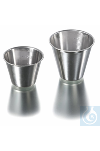 Beaker, stainless steel, graduated, Ø 56 mm, height 47 mm, volume 50 ml