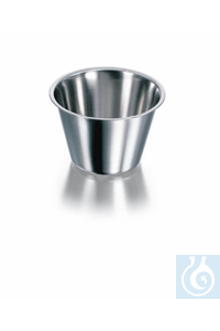 Bowl, stainless steel, conical, Ø 80 mm, height 35 mm, volume 100 ml