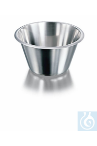 Bowl, stainless steel, conical, high form, Ø 217 mm, height 115 mm, volume 2000 ml