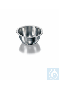 Bowl, stainless steel, round shape, Ø 92 mm, height 44 mm, volume 160 ml