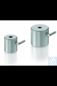 Pied de statif cylindrique, acier, revêtement en poudre, pour tiges jusqu'à 13 mm Ø, hauteur 55...