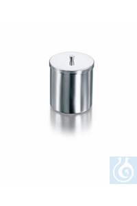 Dressing jar, stainless steel, with knobbed lid, Ø 200 mm, height 100 mm, volume 3000 ml, 1140 g