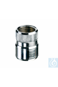 Quick coupling for Water jet pump, chromium plated brass, G 1/2