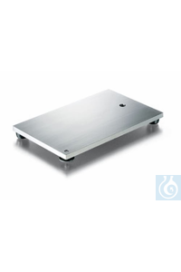 Retort stand base stainless steel, thickness 8 mm, ground surface, thread M 10, adjustable foot,...