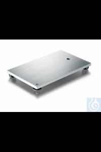 Socle de statif inox, épaisseur 8 mm, surface rodée, filetage M 10, pied ajustable, pieds en...