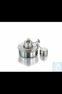 Spirit burner, stainless steel, adjustable wick, cover, volume 60 ml.