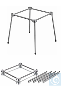 Stainless steel 4-feet stand 200 x 200 mm, excellent stability and optimum height for use with...