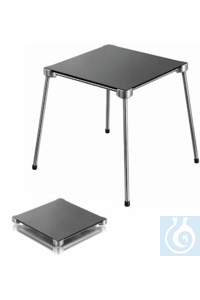 Stainless 4-feet stand 200 x 200 mm incl. vitroceramic plate, excellent stability, optimum height...