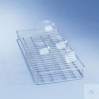 E402 Einsatz 1/2 für 44 Glasscheiben 80-125 mm Durchm. aus Edelstahl, H 53, B...