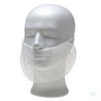 Bartmaske 02040 weiß Bartmaske mit latexfreien Elastikbändern.