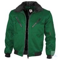 Pilotenjacke 1-farbig 100011 grün Größe S Austrennbares Faserpelzfutter....