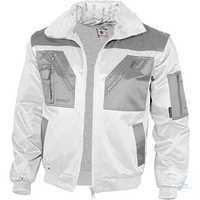 Pilotenjacke 2-farbig 100045 weiß-grau Größe S Austrennbares Faserpelzfutter....