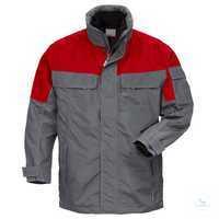 100815 Icon Airtech® Winterjacke 3-in-1 4816 GT, grau-rot Größe XS Verdeckter...