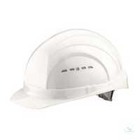 Schutzhelm EuroGuard 6-Punkt weiß Modernes 5-Rippen-Design, gerade Helmform,...