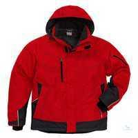Airtech® Winterjacke 4410 GTT rot-schwarz, Größe XS Airtech®, wind- und...