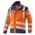 KÜBLER REFLECTIQ Jacke 1207-8340-3746 warnorange-kornblumenblau Größe 102...