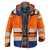 KÜBLER REFLECTIQ Jacke 1307-8332-3746 warnorange-kornblumenblau Größe XS...
