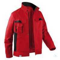 Jacke 1345 3411 5599 mittelrot-schwarz Größe 102 2 Brusttaschen mit Patte und...