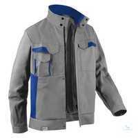 Jacke 1345 3411 9546 mittelgrau-kornblumenblau Größe 102 2 Brusttaschen mit...